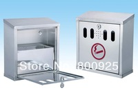wall-hung 4L stainless steel ash box with locker use for outdoor public smoking area or hotel or another polic
