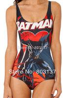 2014 Women Custom Tankinis I AM THE BATMAN Bodysuit SWIMSUIT Digital Printing Swimwear New Black Wetsuit S125-119