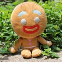 retail 1pc shrek4 big headz Gingerbread Man plush toy soft stuffed doll children gift