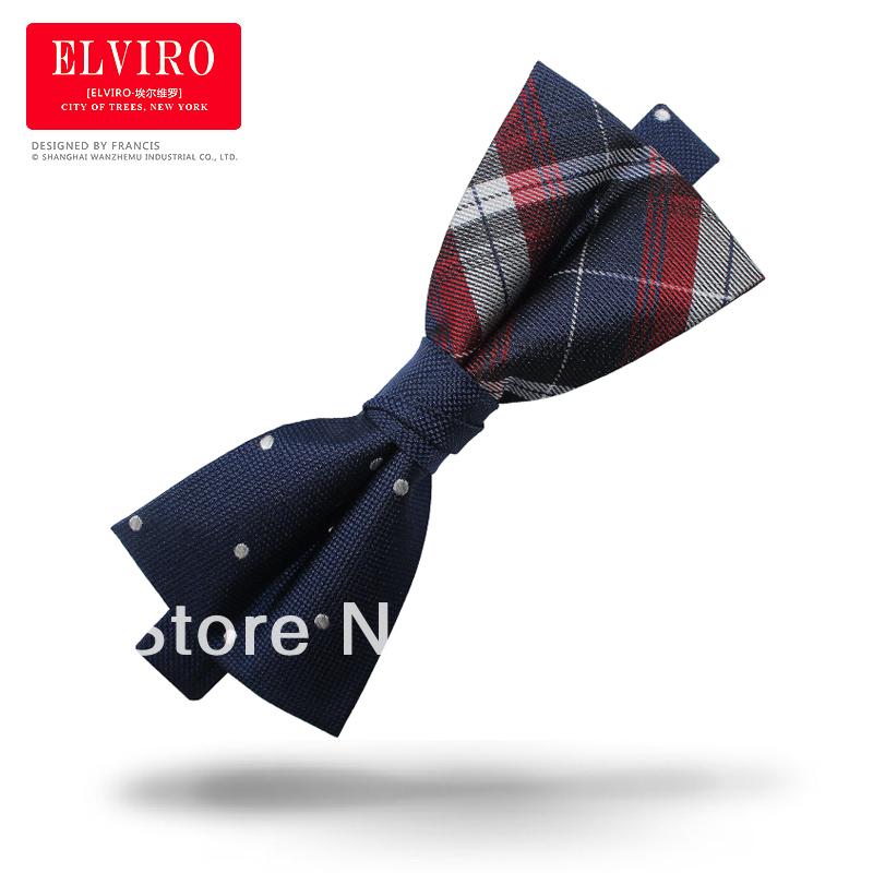 Good quality fashion asymmetrical bow tie bridegroom bow tie british style jacquard mens bowtie with gift box #0153(China (Mainland))