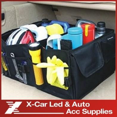 Retail Free Shipping Black Car Boot Organiser storage Bag Auto Storage Box Multi-use Tools organizer(China (Mainland))