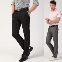 wholesale Male casual commercial western-style trousers straight fashion formal pants easy care slim health pants 3621