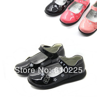 Spring 2014 New Arrival PU Girls Shoes Fashion Cute Flower Cartoon Kids' Shoes for Girl Children Sneakers Princess Shoes