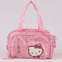 Canvas Hello Kitty Kindergarten School Bag Kids Cartoon School Messenger Bag Animal Bags Gift For Children KT7914A