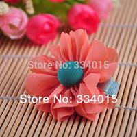 10 pcs/lot chiffon cute girls flowers hair clips for women new kids hairpins accessories  PJ077