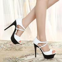 Big Sandals Woman Open Toe Sandals Platform Sandals With High Heel Summer Free Shipping