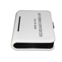 PC VGA to HDMI HDTV 1080P Adapter HD Video Converter Box For PS3 XBOX 360 Laptop-white