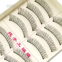 (mix order) 2 Boxes* 20pieces Handmade Cross Black False Eyelashes Nude Makeup Eyelash