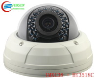 HD 960P IP network dome waterproof Security CCTV Camera/1.3 Megapixel/25m infrared night vision/varifocal lens/Poe optional