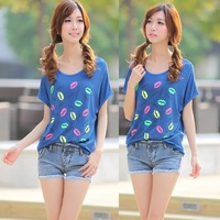 T-shirt summer short-sleeve 2014 modal sweet o-neck short-sleeve fashion women's female summer