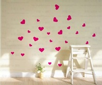Mix Wholesale Order Full Heart Love Wall Sticker Home Living Room Bedroom Decor Window Glass Art Vinyl Wallpaper