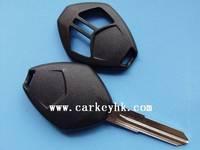 40pcs/lot   NO LOGO Mitsubishi 2 button remote key shell blank cover case fob without logo