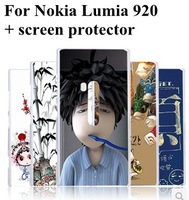 New Design Hard Beautiful Case Cover for Nokia Lumia 920 Case Pattern Case with Screen Protector