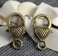 40pcs/lot 26*13MM Zinc alloy bead Antique Bronze Plated Jewelry Findings Lobster Clasps Hooks LLA1126