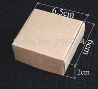 6.5*6*2CM,100pcs/lot, Free Shipping Jewerly kraft paper box Brown kraft handmade gift boxes,custom box logo kraft paper box