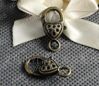 40pcs/lot 15*26MM Zinc alloy bead Antique Bronze Plated Jewelry Findings Lobster Clasps Hooks LLA1124