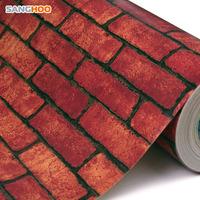 - thickening boeing film brick wallpaper brick red sa5109