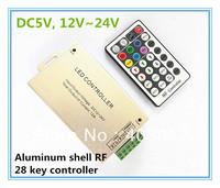 28key LED strip ribbon rf remote controller 12V SMD 5050 RGB Free shipping DC5V, 12V~24V 10set/lot