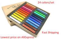 Free Shipping 24 Colors Chalk Pastel Stick Vermicelli Chalk Powder Brush Hair Chalk  2014 New arrival Hot sale