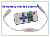 Mini RF Wireless Remote Led Dimmer Controller For Single Color Led Light Strip 100set/lot