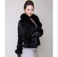 Free shipping Women's short design fur coat fox fur mink hair 2014 winter slim
