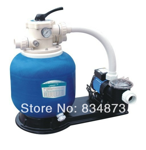 Swimming pool filtration unit 450mm sand filter with 0.5HP pump pool water treatment(China (Mainland))