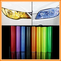 11.8 Inch*39.37 Inch Auto Car HeadLight Sticker Fog Xenon LED Taillight Tint Vinyl Film Sheet For All Brand