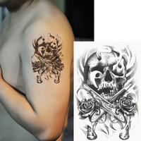 Tengffi tattoo stickers double ghoulish tattoos stickers tattoo stickers fashion tattoo paper
