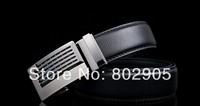 Designer belts men active genuine leather buckle belt for mens 2014 brand black color