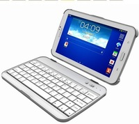 Portable Removable Aluminium Mental Thin Wireless Bluetooth Keyboard Stand Cases For Samsung Galaxy Tab 3 P3200 P3210 T210 T211
