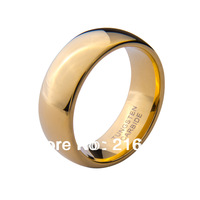 Hot Selling Tungsten Carbide Ring 18K Gold Plated Men's Wedding Band Engagement Band Promise Ring Size 7-13 Free Shipping