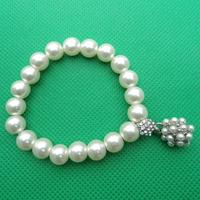 12pcs/lot Lowest Price Fashion Elastic Imitation Pearl Bracelet MB026 Magi Jewelry Wholesale