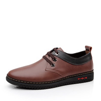 Free shipping By DHL 2014 Fashion men Casual shoes Size 38-44 genuine leather shoes for men shoes online Russia Ukraine SC109