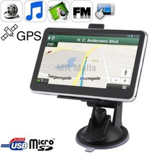 5.0 inch TFT Touch-screen Car GPS Navigator with 2GB TF Card, Mini USB port, Voice Broadcast, FM Transmitter