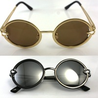 Free shipping All-match star round vintage style male pointed toe box the trend of fashion leopard print sunglasses myopia 2251