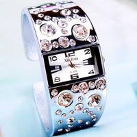 Xinhua Diamond Decor Unique design Analog Quartz women's fashion Ladies Lady Dress bracelet Bangle student watches XH300