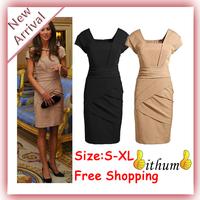 2014 top fashion new style women dress Elegant Princess Kate Bodycon Pencil Dress Ladies Tight Slim Party Dresses