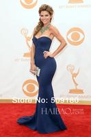 elegant high quality sweetheart neck floor length custom made celebrity dress design JO041 royal blue mermaid prom dresses