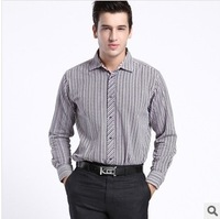 2014 new spring men's long-sleeved shirts Sea Orchid House genuine cut standard cotton striped men's shirts