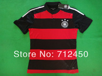 top Thailand Quality Players version 2014 World Cup Germany away red OZIL Muller LAHM GOTZE Reus Soccer Jersey Football shirt