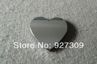 3D Heart Shape Style Chrome Electroplating Emblem