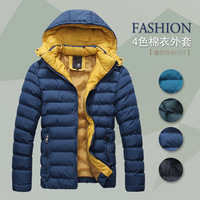 Detachable cap thermal wadded jacket thickening casual cotton-padded jacket winter cotton 3014