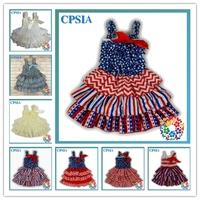 Posh Petti Top Sweet Baby Girls Dress Ruffle Chiffon Prom dresses infant Lovely toddler dress- 24pcs/lot