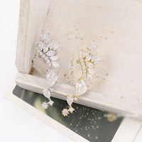 38 fashion earring fashion crystal no pierced earrings long design clip