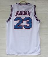Michael Jordan 23 Space Jam Jersey White, Cheap Basketball Jersey Michael Jordan 23 Space Jam Jersey, Free Shipping