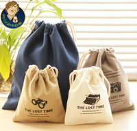 Derlook 3415 tote time canvas storage bag cloth bag grocery bags