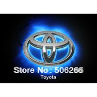 LED Car Decal Logo Red car body stickers Backlight for Toyota RAV4 Tail Light Auto Badge Light