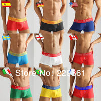 High Quality 10pcs/set Men's Underwear Boxers Modal Underwear Flag Pants Man Underwear Boxer Shorts