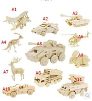 ON SALE  JIGSAW Free shipping 3d puzzle handmade diy wooden puzzle model , Christmas gift educational toys