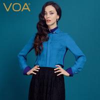 2014 new/ silk jacquard shirt/silk blouse/  double layer collar shirt/ lady's elegant shirt/ ol shirt